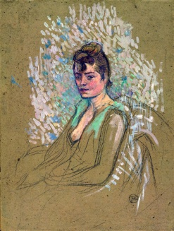 Henri de Toulouse-Lautrec, Donna seduta, olio su cartone, 1893